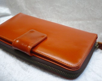 Zip Around  Woman Leather Clutch Wallet, Leather Wallet, Leather Purse Wallet,