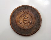 1864 United States Of America 2 Cents