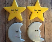 Moon and Star Cookies