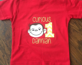 Personalized Curious George Birthday Shirt!!!
