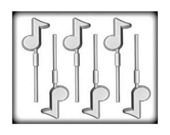 Music Notes Hard Candy Sucker Molds - Soap Baking Candy Making Party Supplies