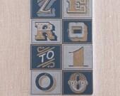 0 to 100 - Letterpress Notebook Handmade in Seattle
