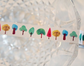 Watercolor Painting Tree Washi Tape