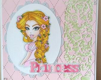7x7 Size Princess Card