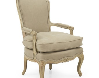 French Louis XV Style Painted Antique Fauteuil 19th Century, 502CIA22