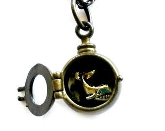 Whale Necklace Maritime Porthole Handmade Gift