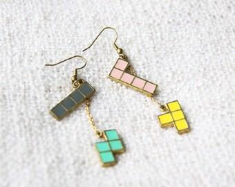 Tetris Earrings - Handmade Jewelry - September Room