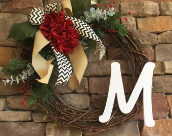 Rustic Christmas wreath. Holiday wreath. From door Christmas wreath. Christmas decor. Christmas wreath. Burlap wreath. Holiday wreath.
