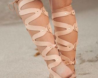 Medusa Gladiator Sandal, Leather Gladiator Sandals, Women's Sandals, Greek Gladiator Sandals, Lace Up Gladiators