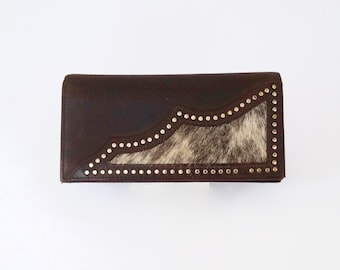 Wallet Rugged Leather with Metal Studs