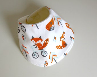 Baby Drool Bib, Arrow Foxes Cotton with Organic Bamboo Terry