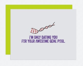 Awesome Gene Pool - I Like You Card