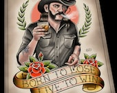 Lemmy Kilmister Tattoo Flash Art Print