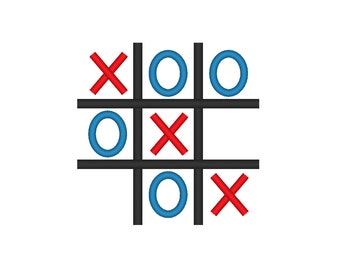 Tic Tac Toe Embroidery Machine Design