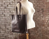 The Scout Classic Leather Tote - Chocolate Chromexcel