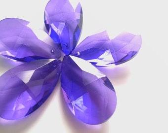 ONE Violet Purple Teardrop Chandelier Crystals 38mm Prisms Almond Pendant