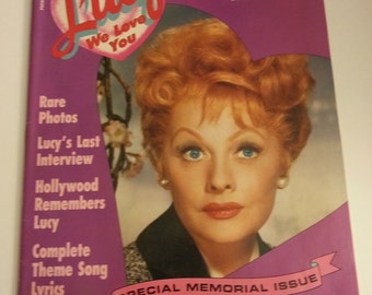 Lucy We Love You Magazine, Vol. 1, No. 1, copyright 1989