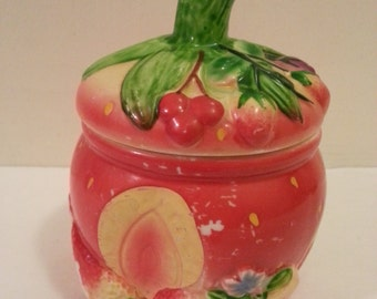 Small Ceramic Strawberry Container