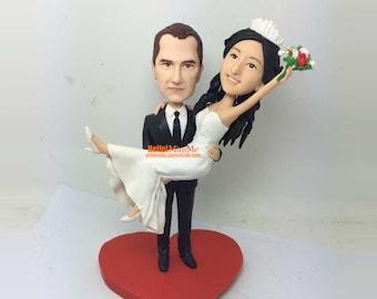 wedding cake topper wedding topper bobblehead by hellominime. Black Bedroom Furniture Sets. Home Design Ideas