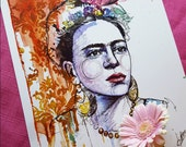 Frida Kahlo  A4 art print - Limited Edition