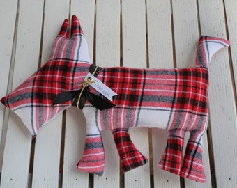 Signature Plaid Pup Plush Toy