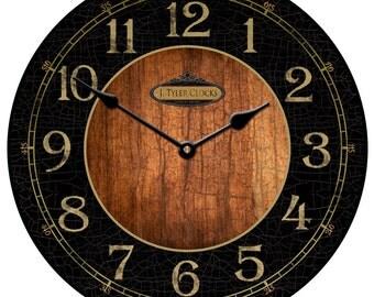Black & Wood Wall Clock