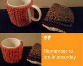 Coffee cup cup Cozy, Chunky knit, knit cup cozy, coffee cozy, coffe mug cozy, tea cozy, cup sleeve