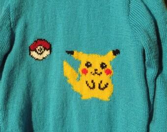 Pikachu and Pokemon Ball Sweater