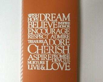 Wish, Dream, Cherish Journal