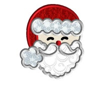 Santa face embroidery design, Applique,  3 size holiday machine embroidery design, Christmas applique, instant download