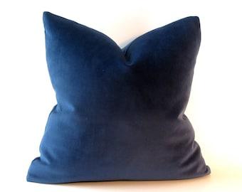 Dark Blue Navy Velvet Pillow Cover