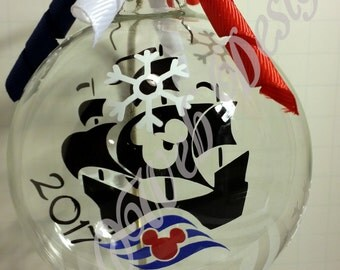 Disney Cruise Line Inspired Floating Glass Ball Christmas Ornament, Fish Extender Gift