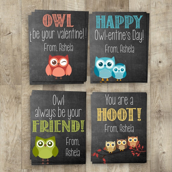 Owl Valentines Day Cards Kids Valentines Day Cards DIY – Owl Valentines Day Cards