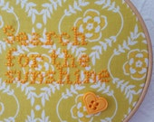 Motivation Gift. Search For The Sunshine. Hoop Art.  Embroidery. 5 inch Hoop Art. Cross stitch Quote.  Wall Hanging. Home Décor.