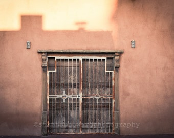 Rustic Door Photography Albuquerque New Mexico Southwestern U.S. Old Town Adobe Santa Fe Urban Restaurant Decor Travel Photography Rose