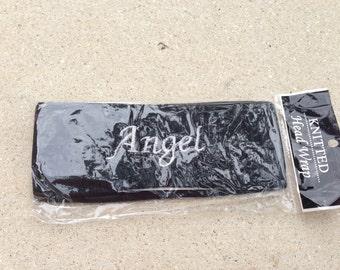 black angel sweatband headband