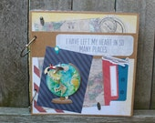 HUGE DISCOUNT * Travel Scrapbook Album, European Travel, American Travel, Adventure Scrapbook, Interactive, 8 x 8 Photo Album