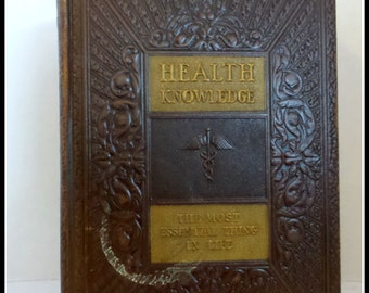 Vintage Book Health Knowledge The Most Essential Thing in Life