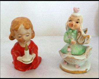 Vintage Pair of Ceramic Figurines