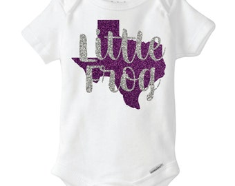 Little Frog Glitter Baby Outfit