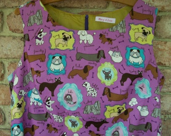 Size 20 Retro 60's Style Dress with Dogs