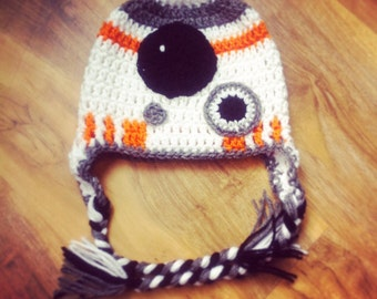 BB8 inspired hat (made to order)