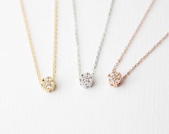 Little Cubic Necklace // Gold Cubic necklace // Rose gold cubic necklace // Silver cubic necklace