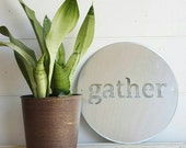 12 inch Gather Metal Sign