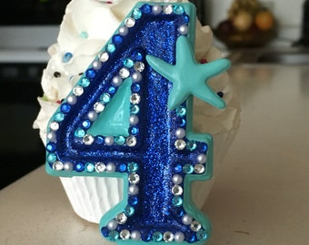 Under the sea/starfish themed birthday candle - any number or color