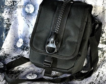Cryoflesh Industrial Cybergoth Cyberpunk ShoulderEDM EDC  Bag Purse