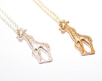 Gold Giraffe Necklace, Silver Giraffe Necklace, Giraffe Jewellery, Giraffe Lover Gift, Giraffe Lover Jewellery, Cute Giraffe Jewelry