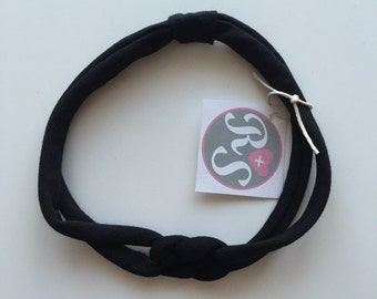 Black twisted headband