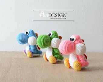 Yoshi @ Super Mario - PDF Crochet Pattern