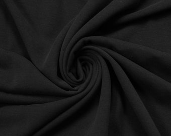Black Modal Poly Sand Wash Jersey Cupro Knit Fabric by the Yard - Style 681